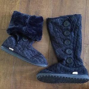 "MUK LUKS ""Jenny"" cardigan faux fur boots"